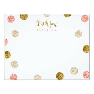 Cartão ø Obrigado Aniversário-Cor-de-rosa & do ouro você