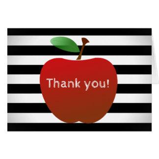 Cartão O obrigado que de um professor você nota