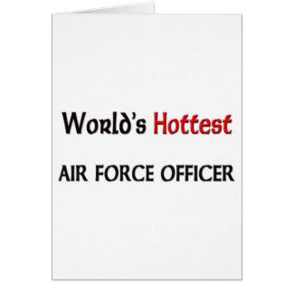 Cartão O oficial de força aérea o mais quente dos mundos