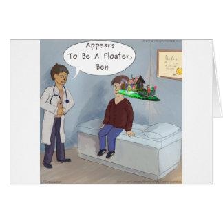 Cartão O oftalmologista encontra um vagabundo do olho da