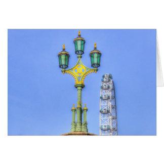 Cartão O olho de Londres e a ponte de Westminster