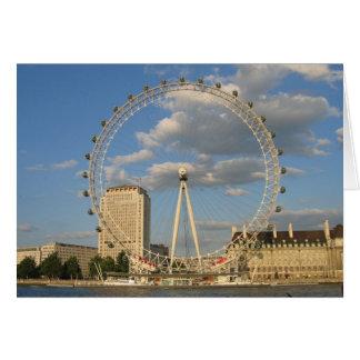 Cartão O olho de Londres - NoteCard vazio
