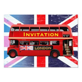 Cartão O ônibus vermelho famoso de Londres