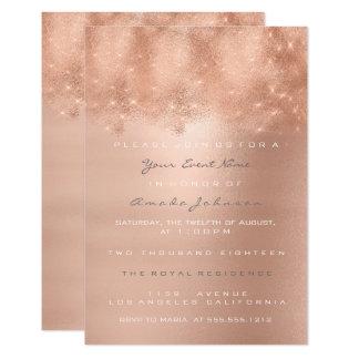 Cartão O ouro cor-de-rosa cora o doce nupcial dezesseis