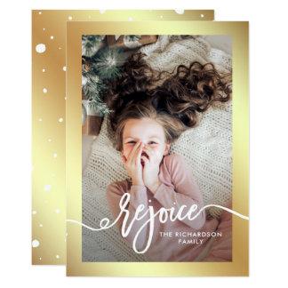 Cartão O ouro do falso exulta o roteiro do Natal de | com