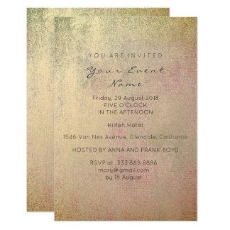 Cartão O ouro do Sepia cora pintura cor-de-rosa do