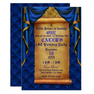 Cartão O ouro dos azuis marinhos drapeja o partido de