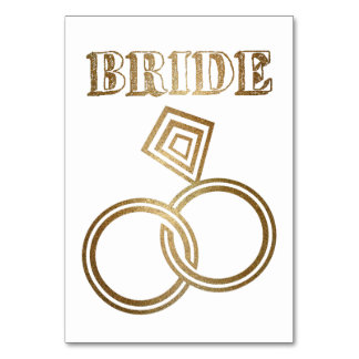 Cartão O ouro ligado soa o casamento da noiva