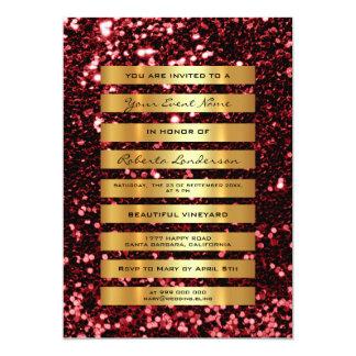 Cartão O ouro luxuoso do brilho listra a listra marrom de