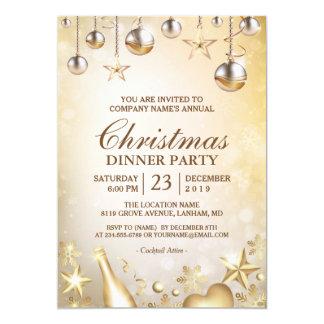 Cartão O ouro Ornaments a festa natalícia incorporada do