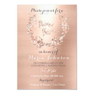Cartão O ouro verde-oliva do rosa do rosa da grinalda do
