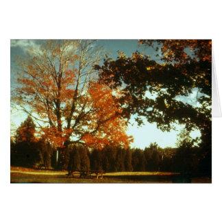 Cartão O outono começa
