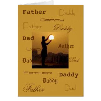 Cartão O pai captura o sol