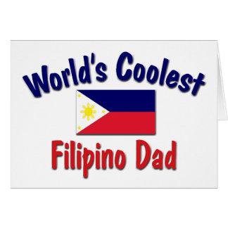 Cartão O pai filipino o mais fresco do mundo