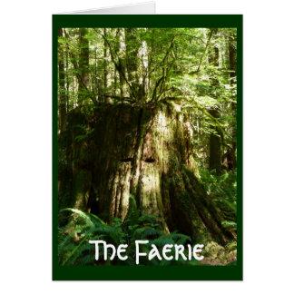Cartão O país das fadas - espírito da árvore