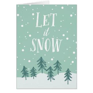 Cartão O país das maravilhas do inverno deixou-o nevar