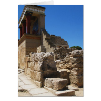 Cartão O palácio de Minoan da fotografia de Knossos