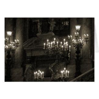Cartão O Palais Garnier Paris France