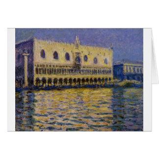 Cartão O Palazzo Ducale 2 por Claude Monet