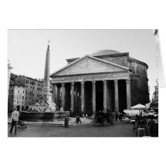 Cartão O panteão em Roma, Italia