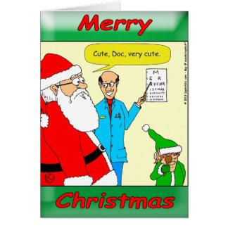 Cartão o papai noel x80 vai ao doutor de olho