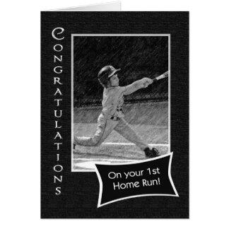 Cartão ø Parabéns do home run