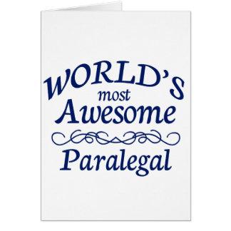 Cartão O Paralegal o mais impressionante do mundo