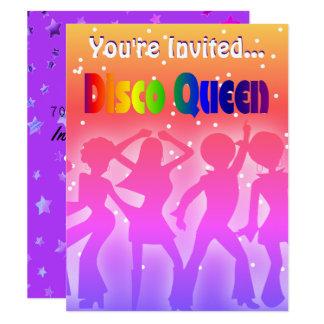 Cartão O partido 70s retro da rainha | do disco do