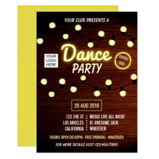Cartão O partido da música de dança do DJ do clube