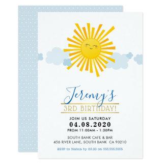 Cartão O PARTIDO de ANIVERSÁRIO DE CRIANÇA CONVIDA o