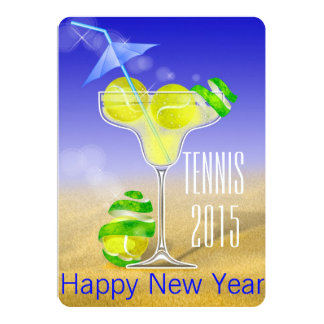 Cartão O partido de ano novo de Margarita do tênis