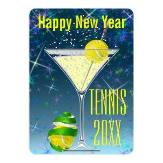 Cartão O partido de ano novo de Martini do tênis
