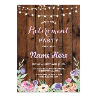 Cartão O partido de aposentadoria floral ilumina a