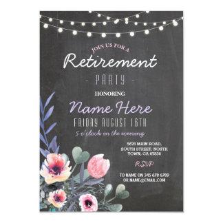 Cartão O partido de aposentadoria floral ilumina o quadro