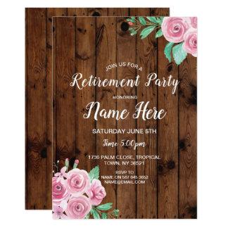 Cartão O partido de aposentadoria floresce rosas que