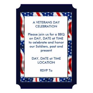 Cartão O partido do dia de veteranos do horizonte convida