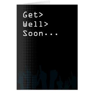Cartão O partido do ecrã de computador temático obtem bem