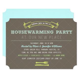 Cartão O partido do Housewarming do divertimento convida