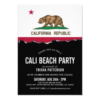 Cartão O partido do tema da bandeira de Califórnia