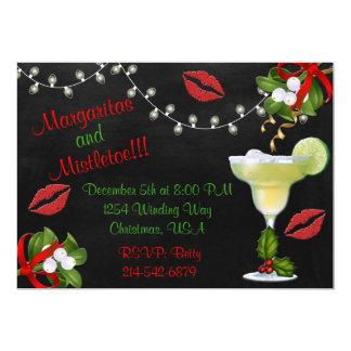 Cartão O partido dos Margaritas e das luzes do visco