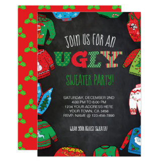 Cartão O partido feio personalizado da camisola convida