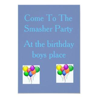 Cartão O partido Invatation do Smasher