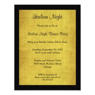 Cartão O partido italiano da noite do fundo do arenito