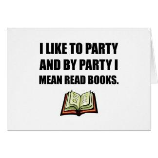 Cartão O partido leu livros