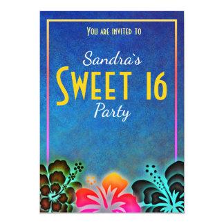 Cartão O partido louco do doce 16 de Noen convida