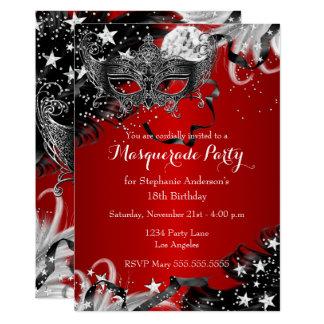 Cartão O partido mágico do mascarada da noite da faísca