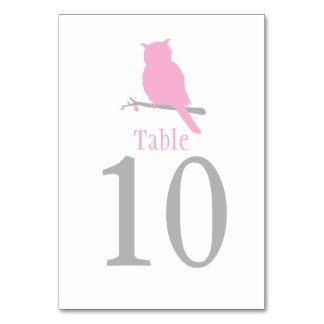 Cartão O pássaro branco da coruja que wedding a mesa