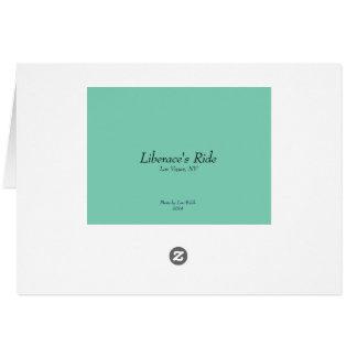 Cartão O passeio de Liberace