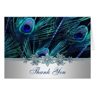 Cartão O pavão roxo dos azuis marinhos empluma-se o
