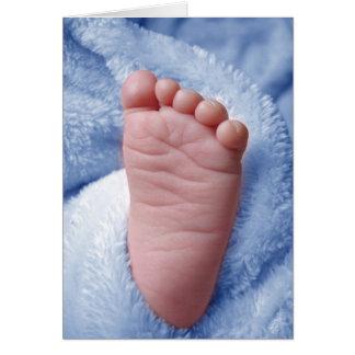 Cartão O pé do bebé pequeno